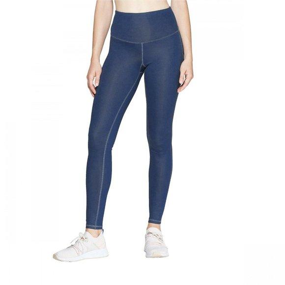 C9 Champion Pants Jumpsuits Nwt Waisted Shine Leggings Xs Blue Poshmark